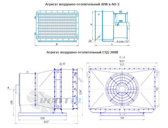 Агрегат воздушно отопительный АПВ, АО-2 и СТД-300В
