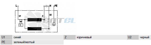 Схема R2E280-AE52-31 подключения