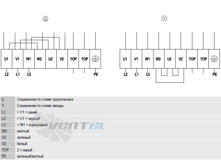 W4D710-DL01-15 схема электрического подключения