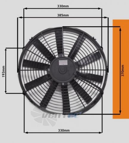 Габаритные размеры Eva Air STR124 осевой для кондиционера