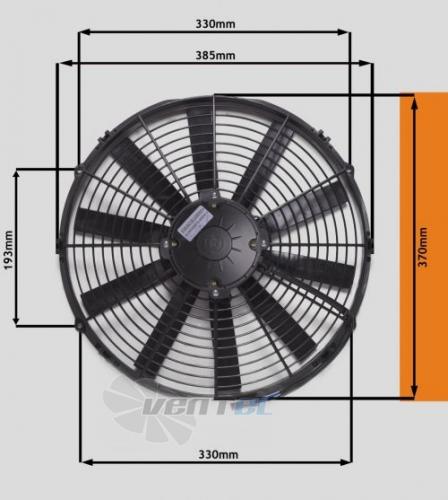 Габаритные размеры Eva Air STR128 осевой для кондиционера