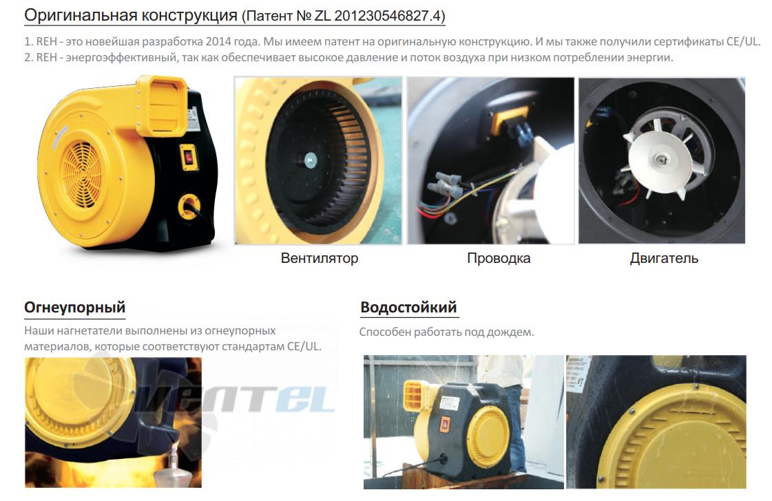 Мощность батутный вентилято Huawei REH-2E