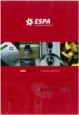 Насосы ESPA каталог скачать и подобрать