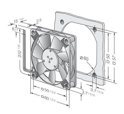 Вентилятор 612F (60x60x15) продажи