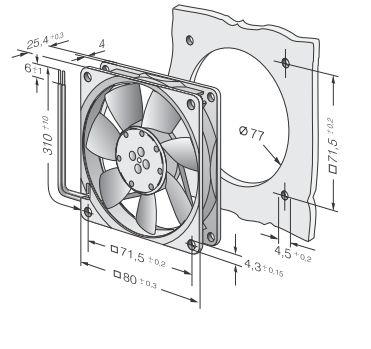 Вентилятор 8414NH (80x80x25) продажи