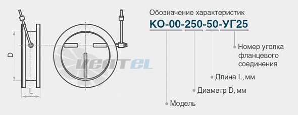 Клапан обратный круглый КО/КОг/КОв