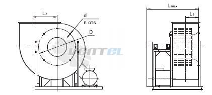 Размеры и схема Веза ВРАВ-063-ДУ исполнение 5