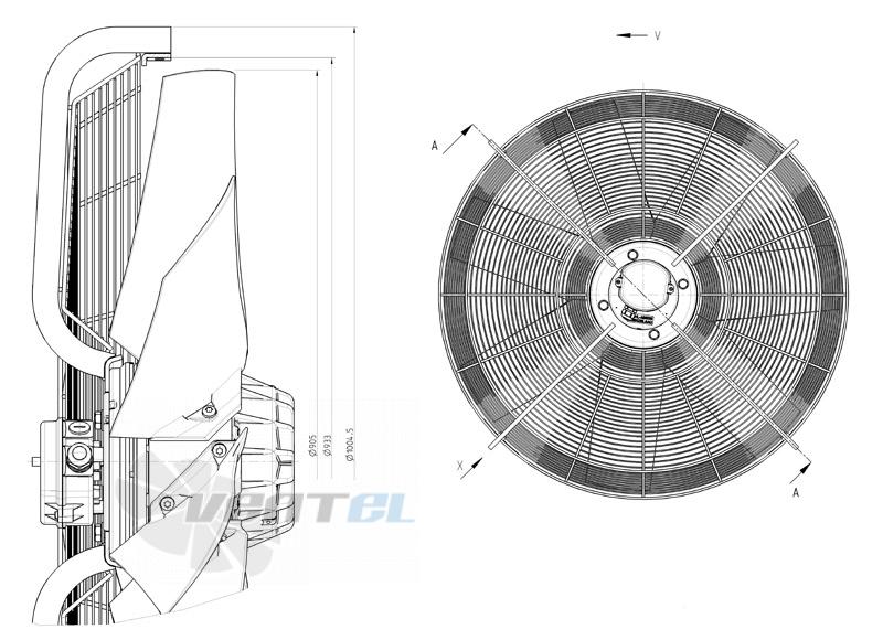 Габаритные и присоединительные размеры FC091-SDS.7Q.V7