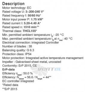 Вентилятор Ziehl-abegg RE28P-ZIK.DC.1R цены, каталоги, прайсы