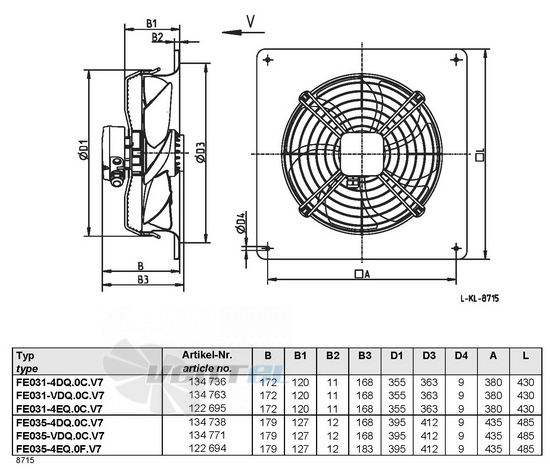 Ziehl-abegg FE035-4EQ.0F.V7 купить, цены, каталоги
