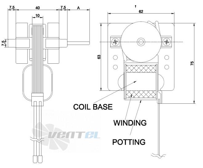 Габаритные размеры Rotech SP-10-AF-002