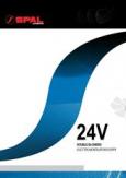 автомобильный радиальный SPAL 24V сдвоенный схемы