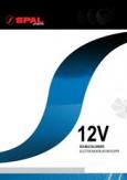 автомобильный радиальный SPAL 12V сдвоенный графики