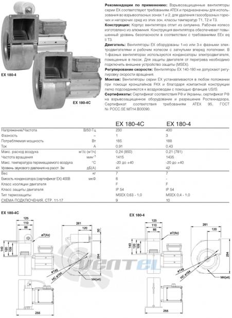 Вентилятор Systemair EX 180-4 взрывозащищенный
