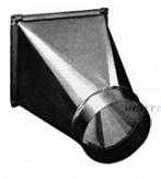 Переход на круглое сечение воздуховод из оцинкованной стали