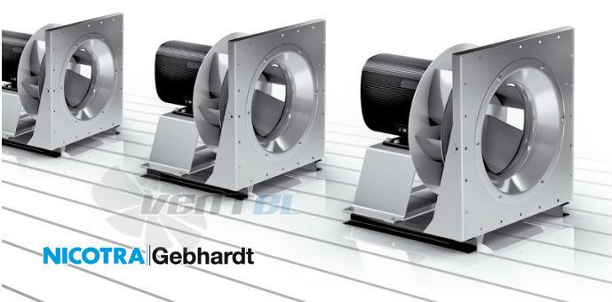 Радиальные вентиляторы Nicotra Gebhardt серии RZR