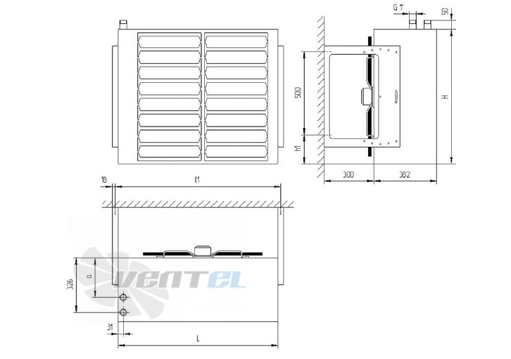 Исполнение и размеры отопительных агрегатов Веза АВО 82 Е