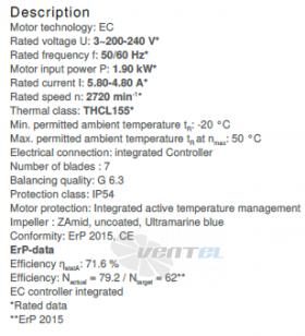 Вентилятор Ziehl-abegg GR35C-ZID.DC.CR 3ф 220V цены, каталоги, прайсы